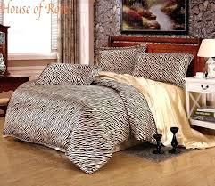 gorgeous black gold zebra stripe silk bedding set4pc 30mulberry queen size bedding set duvet black and