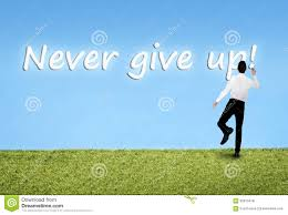 man writing on sky never give up word stock illustration image royalty illustration man writing on sky never give up
