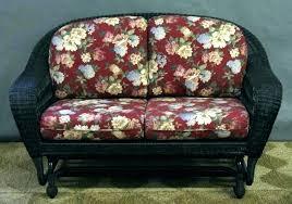 loveseats wicker loveseat glider rocker outdoor double settee all about plans cushions wicker loveseat glider