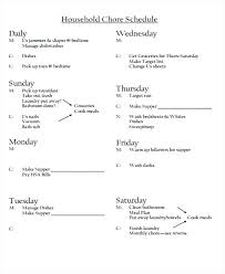 Household Chore List Template House Cleaning Family Chore Free Template Household Chores