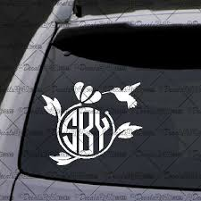 car letter decals lowest prices on monogram letters hummingbird border car stickers