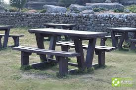 the recycled plastic batley picnic table for people with mobility restrictions