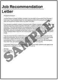 Recommendation Letter Format For A Job Piqqus Com
