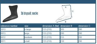 Crewsaver Latex Drysuit 3d Replacement Socks Pair