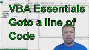 How To Use Goto In Excel Vba Jumping Lines Of Code Code
