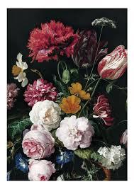 Blauwe Bloemen Behang Behang Art Jan Davidsz De Heem Design
