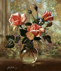 oil painting of flower