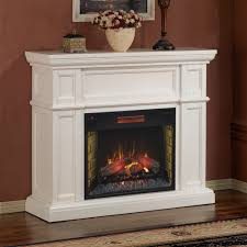 image of electric fireplace mantel white