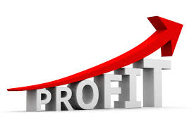 Profit Bar Graph With Upward Arrow Anders Cpas
