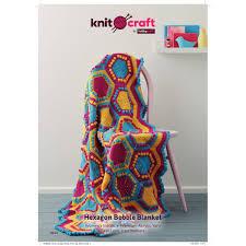 Knitcraft <b>Hexagon</b> Bobble Blanket Digital Pattern 0145 | Hobbycraft