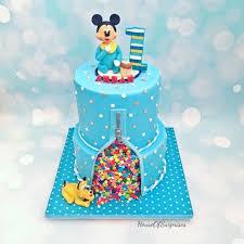 Baby Mickey First Birthday Cake Cake By Shikha Cakesdecor