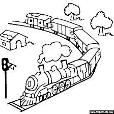 They like to listen to the sound of the wheels, to observe the change of the running of the landscape if you are susceptible to such feelings, without waiting for the next trip, you can play online games trains for free. Train And Locomotive Online Coloring Pages