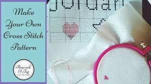 How To Make A Cross Stitch Pattern Simple Design Cross Stitch Patterns How To Make Cross Stitch Charts YouTube