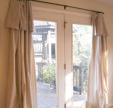 simple curtains and valances for sliding glass doors
