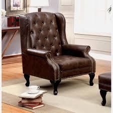 wayfair wingback chair perfect furniture brown leather tufted wayfair wingback chair with gold