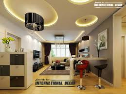 Modern false ceiling designs for living room interior with LED ...