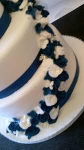 Navy And White Wedding Cake Cake By Cupcakes Of Salisbury Cakesdecor