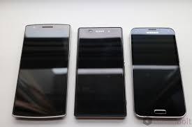 one plus one size galaxy s5 vs oneplus one vs xperia z1 size comparison pics
