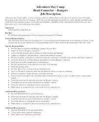 Summer Camp Counselor Job Description For Resume Mysummerjpg Com