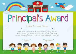 Principal Award Certificate Certificate Template For Principals Award Illustration