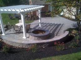 paver patio pergola firepit