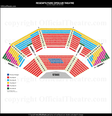 Alexandra Palace Seating Chart Regents Park Open Air Theatre London Seat Map And Prices For