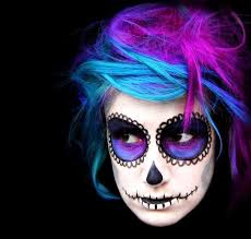 anya goy s day of the dead sugar skull hair and make up discover how she created this iconic look what s and hair dyes she used and how you can