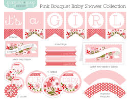 Baby Shower Banner Baby Shower Decorations Printable Pink Bouquet Pink Bouquet