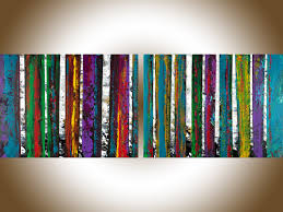 autumn birch by qiqigallery 36 x 24 birch tree painting acrylic painting birch wall art abstract art original artwork painting on canvas textured wall art