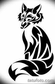 черно белый эскиз тату с лисой 09032019 016 Tattoo Sketch