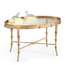 cocktail table oval inspire gold pertaining to 17
