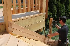 use a framing square and double 2 bys to layout stair posts
