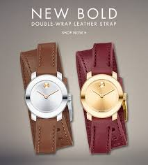 new bold double wrap leather strap now