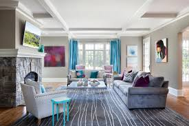 Elegant and Contemporary Home in Bold Color by Clean Design