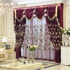 living room curtains with valance. Helen Curtain New Luxury Curtains For Living Room European Style Embroidery Bed Red With Valance