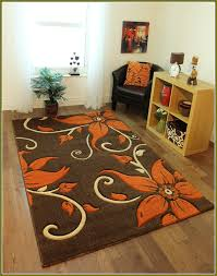stylish burnt orange area rug very nice fl brown area rug with orange flowers brown area