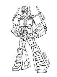 Small Picture Optimus Prime Coloring Pages itgodme