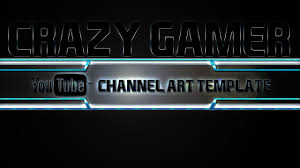 youtube gaming channel art. Unique Channel Crazy Gamer YouTube Channel Art Template Photoshop PSD Inside Youtube Gaming