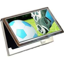 Soccer Business Card Amazon Com Soccer Business Card Holder Office Products