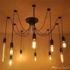 2018 6 8 10 12 16 vintage edison bulbs spider pendant lamp home ceiling light fixtures chandeliers lighting multiple ajule diy ceiling lamp from flymall