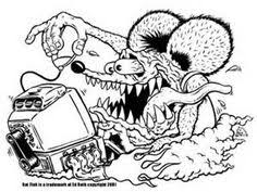 Small Picture Rat Fink Coloring Pages Coloring Pages C Arts Crafts