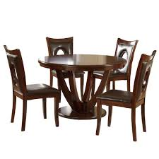 Holmes 5-Piece Rich Cherry Dining Set HomeSullivan Set-402568-485PC