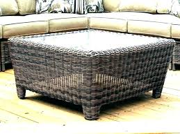 table sophisticated white wicker ottoman storage coffee table rattan outdoor round with