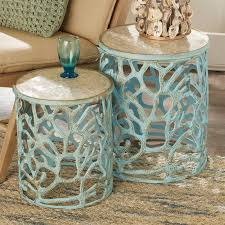 beach style lighting. Mother Of Pearl Coral Accent Tables Beach Style Lighting