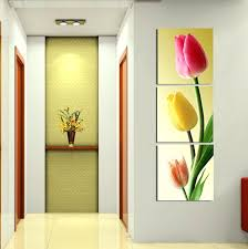 tulip wall art jewelled metal flowers spray canvas picture in  on jewelled metal tulip wall art with unique red living room wall art gift wall art collections