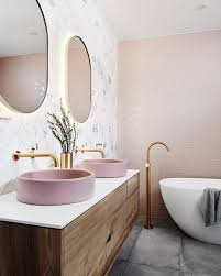 glam pink and gold bathroom decor ideas