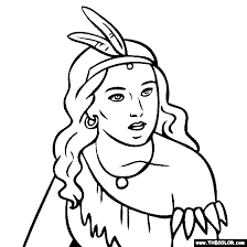 Small Picture Pocahontas Coloring Page
