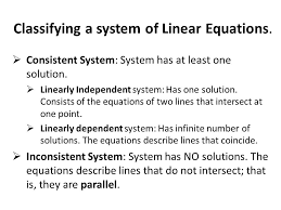 classifying a system of linear equations