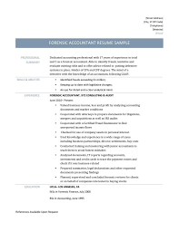 Forensic Accountant Resume Samples Templates And Job Descriptions