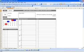 Daily Planner Exceltemplate Net